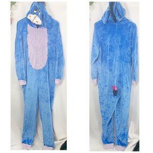 🐠Disney Eeyore 1 Piece Pajamas Halloween Costume